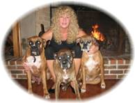 Bree with Max, Zeus and Alli Boxers